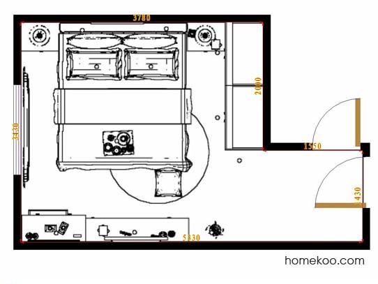平面布置图斯玛特系列卧房A12375
