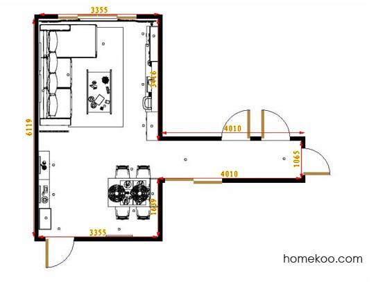 平面布置图柏俪兹系列客餐厅G11246