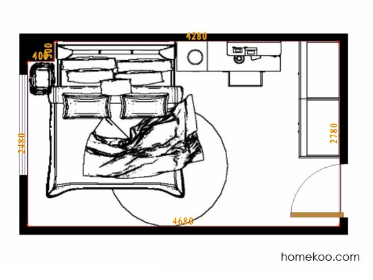 平面布置图斯玛特系列卧房A12390