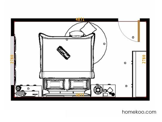 平面布置图柏俪兹系列卧房A12401