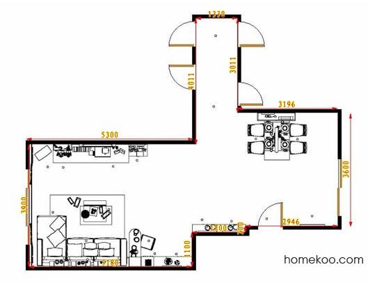 平面布置图德丽卡系列客餐厅G11270