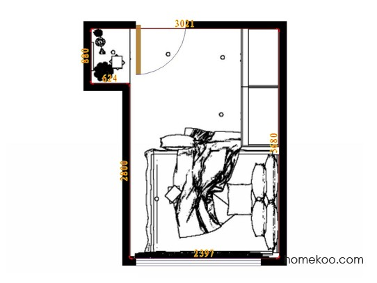 平面布置图乐维斯系列卧房A12486