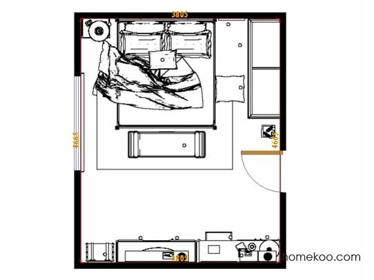 平面布置图贝斯特系列卧房A12517