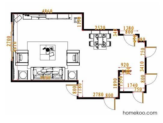 平面布置图乐维斯系列客餐厅G11322