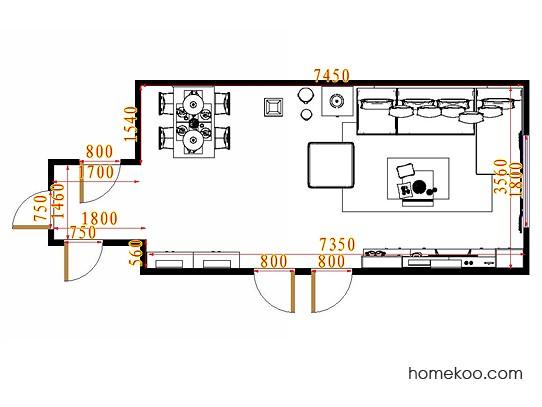 平面布置图斯玛特系列客餐厅G11323