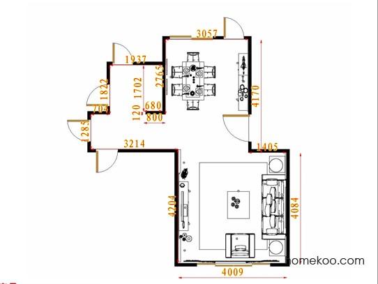 平面布置图贝斯特系列客餐厅G11334