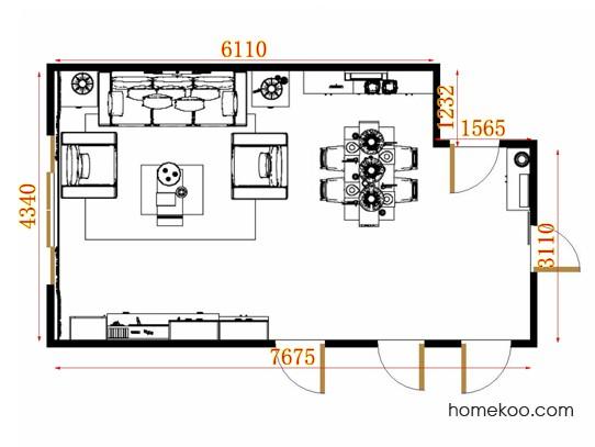平面布置图贝斯特系列客餐厅G11341
