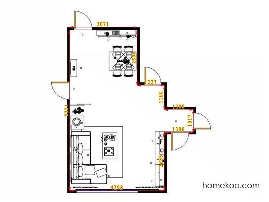平面布置图乐维斯系列客餐厅G11348