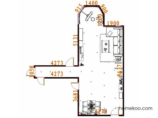 平面布置图德丽卡系列客餐厅G11362