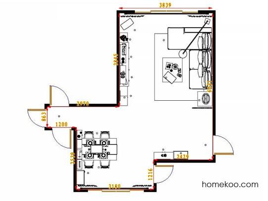 平面布置图柏俪兹系列客餐厅G11377