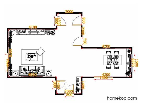 平面布置图斯玛特系列客餐厅G11401