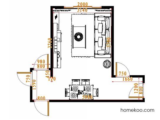 平面布置图斯玛特系列客餐厅G11407