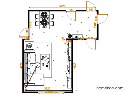 平面布置图贝斯特系列客餐厅G11451