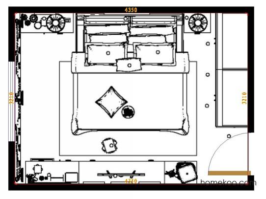 平面布置图柏俪兹系列卧房A12723