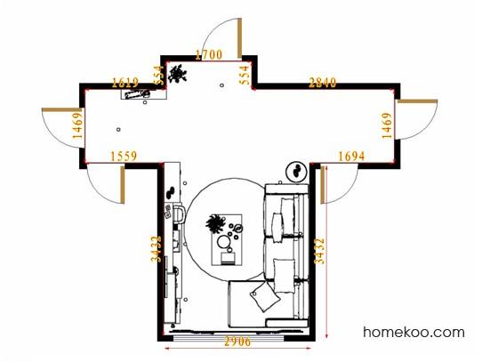 平面布置图格瑞丝系列客餐厅G11457
