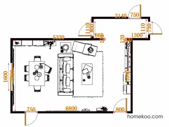 平面布置图格瑞丝系列客餐厅G11461