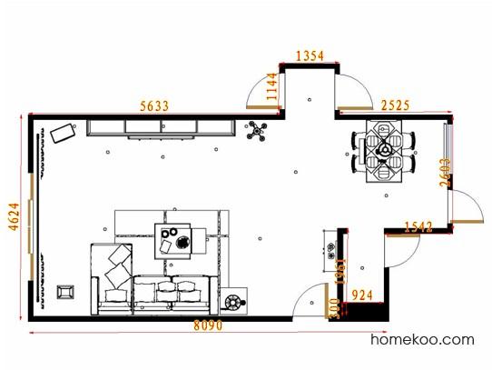 平面布置图贝斯特系列客餐厅G11487