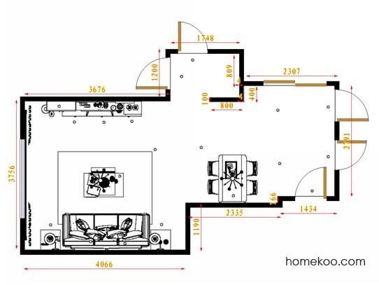 平面布置图斯玛特系列客餐厅G11492
