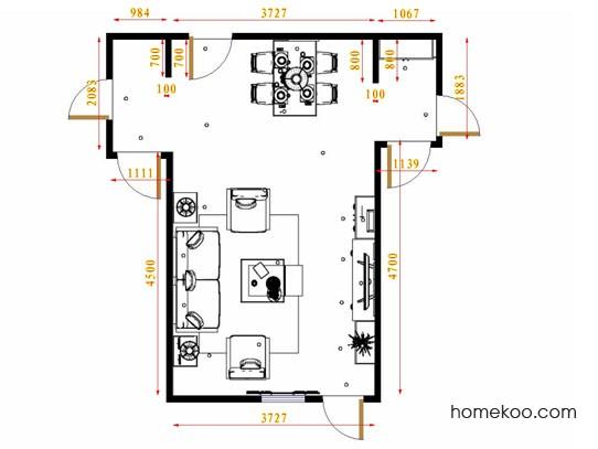 平面布置图德丽卡系列客餐厅G11496