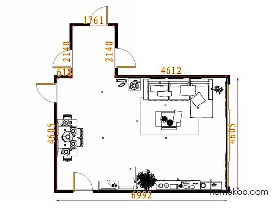 平面布置图斯玛特系列客餐厅G11506