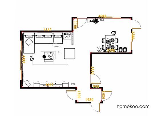 平面布置图贝斯特系列客餐厅G11513