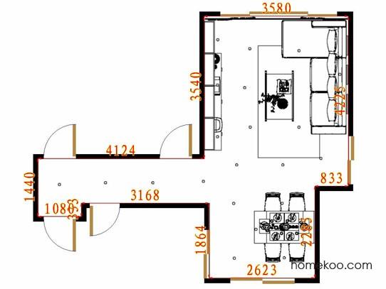 平面布置图斯玛特系列客餐厅G11515