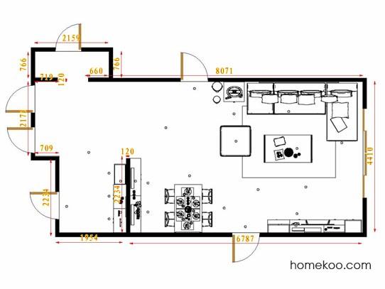 平面布置图斯玛特系列客餐厅G11527