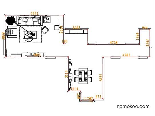 平面布置图德丽卡系列客餐厅G11536