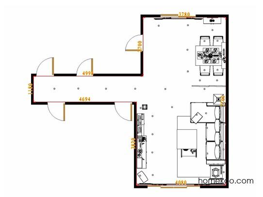 平面布置图贝斯特系列客餐厅G11551