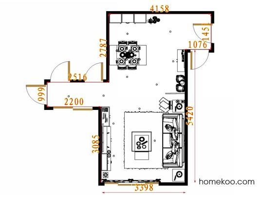 平面布置图斯玛特系列客餐厅G11554