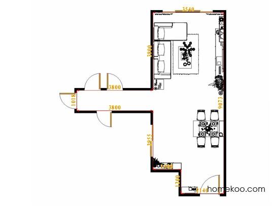 平面布置图柏俪兹系列客餐厅G11560