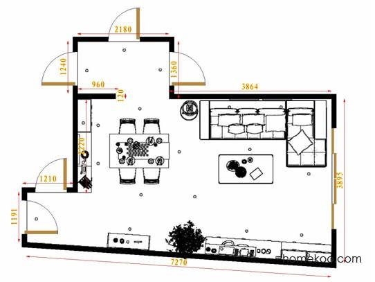 平面布置图乐维斯系列客餐厅G11561