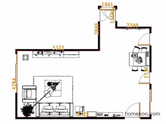 平面布置图斯玛特系列客餐厅G11562