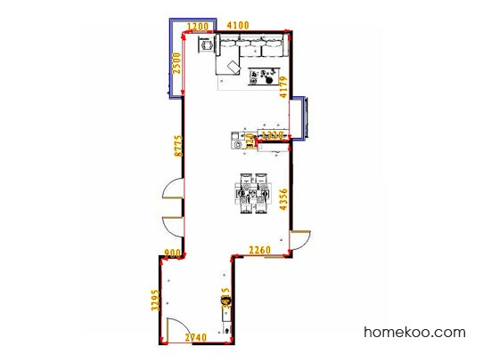 平面布置图格瑞丝系列客餐厅G11569