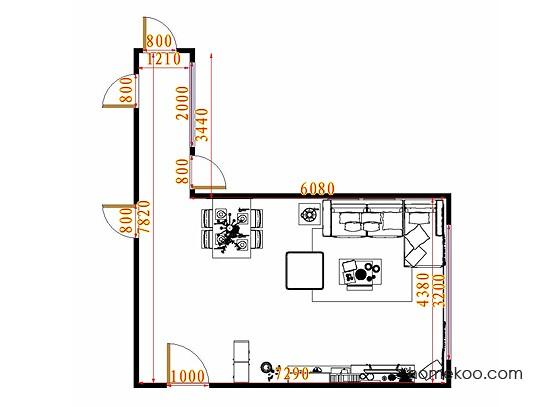 平面布置图斯玛特系列客餐厅G11577