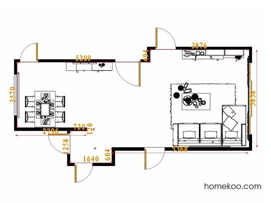 平面布置图乐维斯系列客餐厅G11594