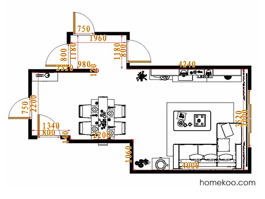 平面布置图乐维斯系列客餐厅G11609