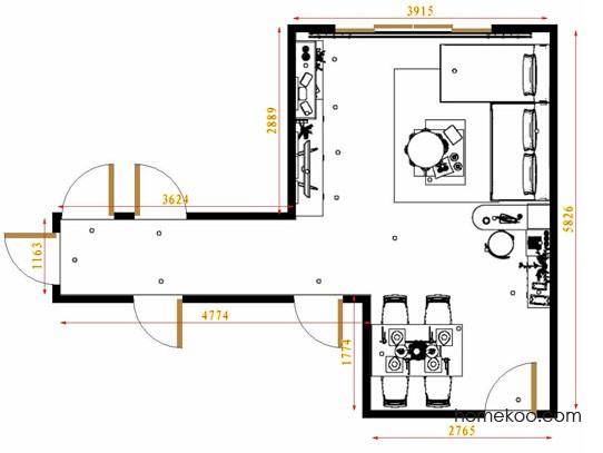 平面布置图柏俪兹系列客餐厅G11621