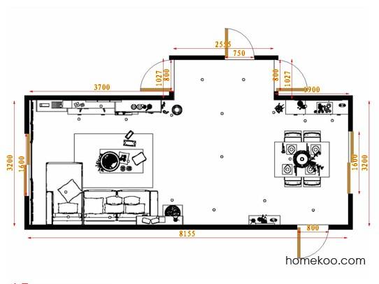 平面布置图德丽卡系列客餐厅G11641