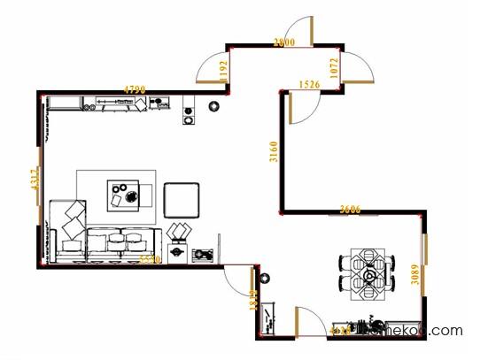 平面布置图乐维斯系列客餐厅G11645