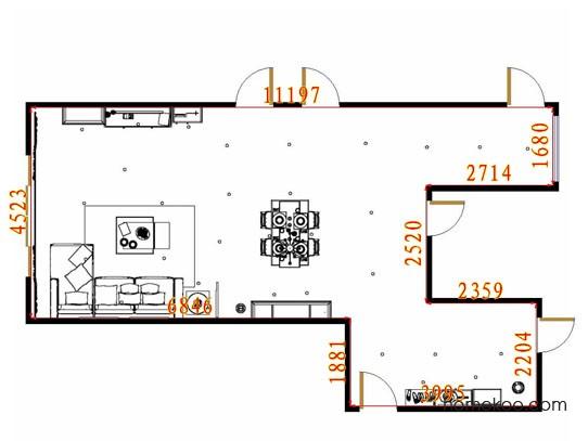 平面布置图贝斯特系列客餐厅G11647