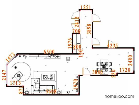 平面布置图斯玛特系列客餐厅G11648