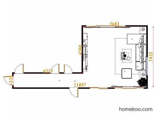 平面布置图贝斯特系列客餐厅G11649