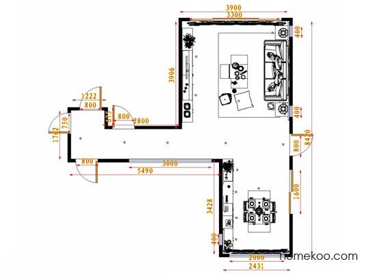平面布置图贝斯特系列客餐厅G11655