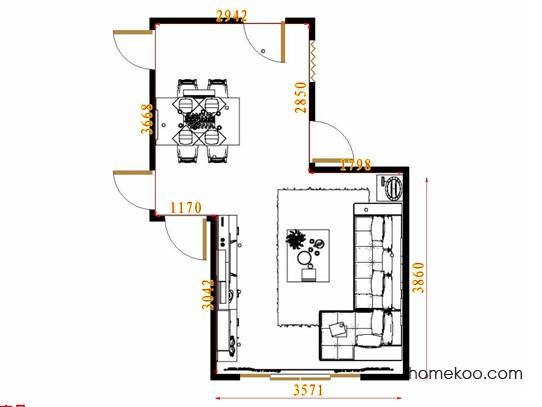 平面布置图贝斯特系列客餐厅G11658