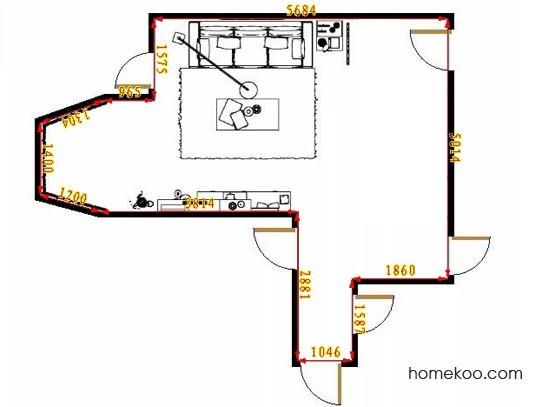 平面布置图德丽卡系列客餐厅G11673