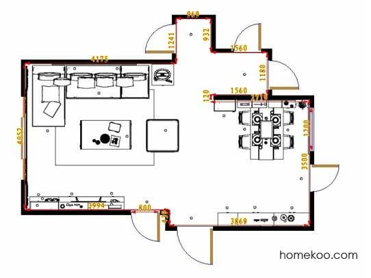 平面布置图贝斯特系列客餐厅G11684