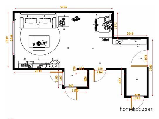 平面布置图格瑞丝系列客餐厅G11686