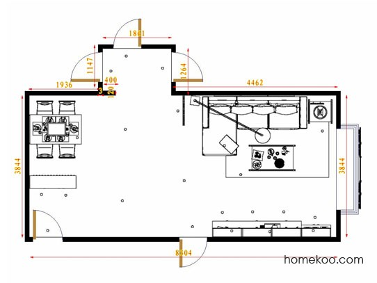 平面布置图贝斯特系列客餐厅G12782