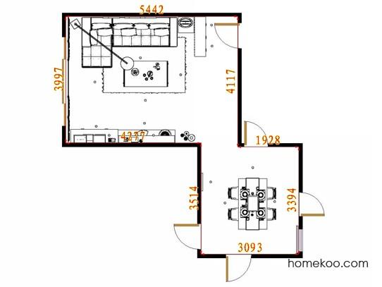 平面布置图斯玛特系列客餐厅G12788